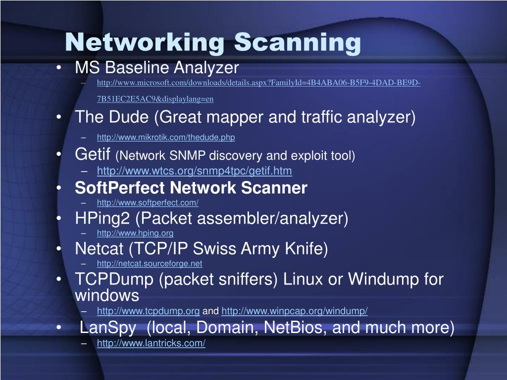 Networking Scanning