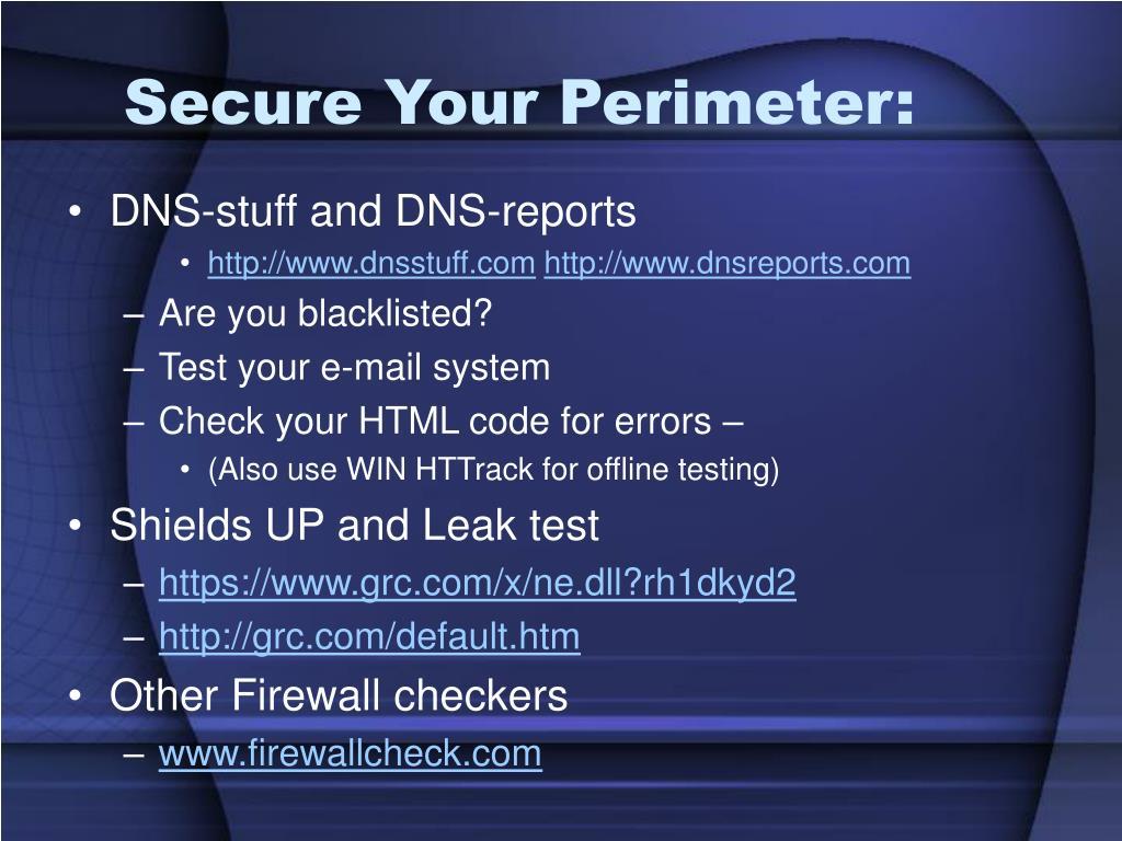 Secure Your Perimeter: