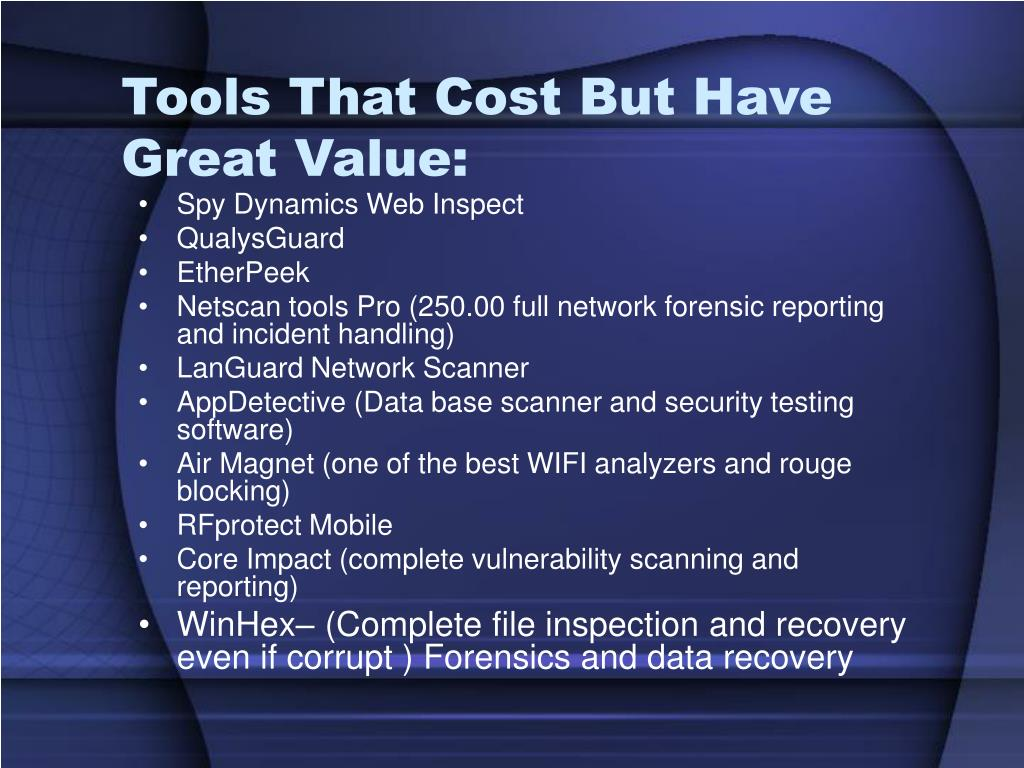 Tools That Cost But Have Great Value: