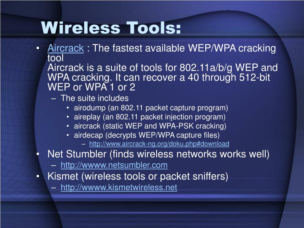 Wireless Tools: