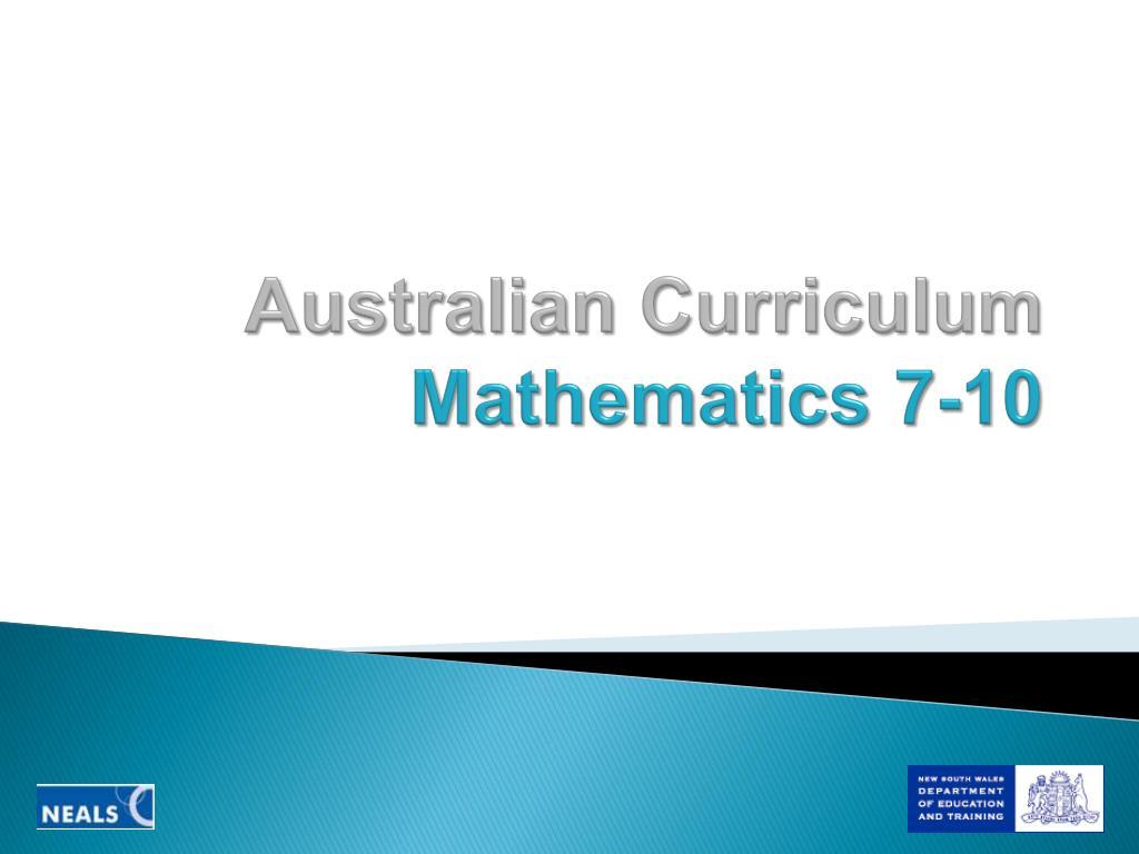 australian curriculum mathematics 7 10 l.