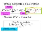 writing marginals in fourier basis