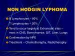 non hodgin lyphoma