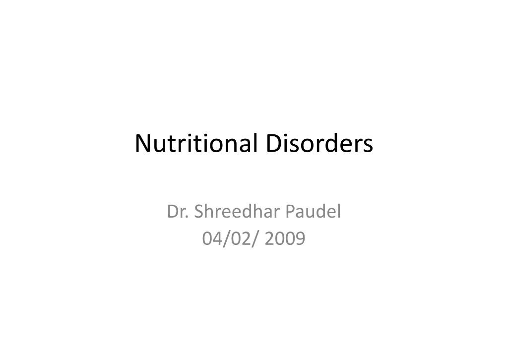 nutritional disorders l.
