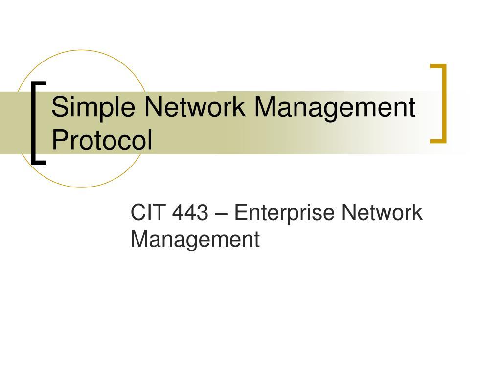 simple network management protocol l.