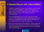 common threats and vulnerabilities