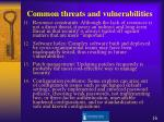 common threats and vulnerabilities16