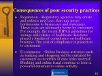 consequences of poor security practices18