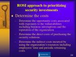 rosi approach to prioritizing security investments20