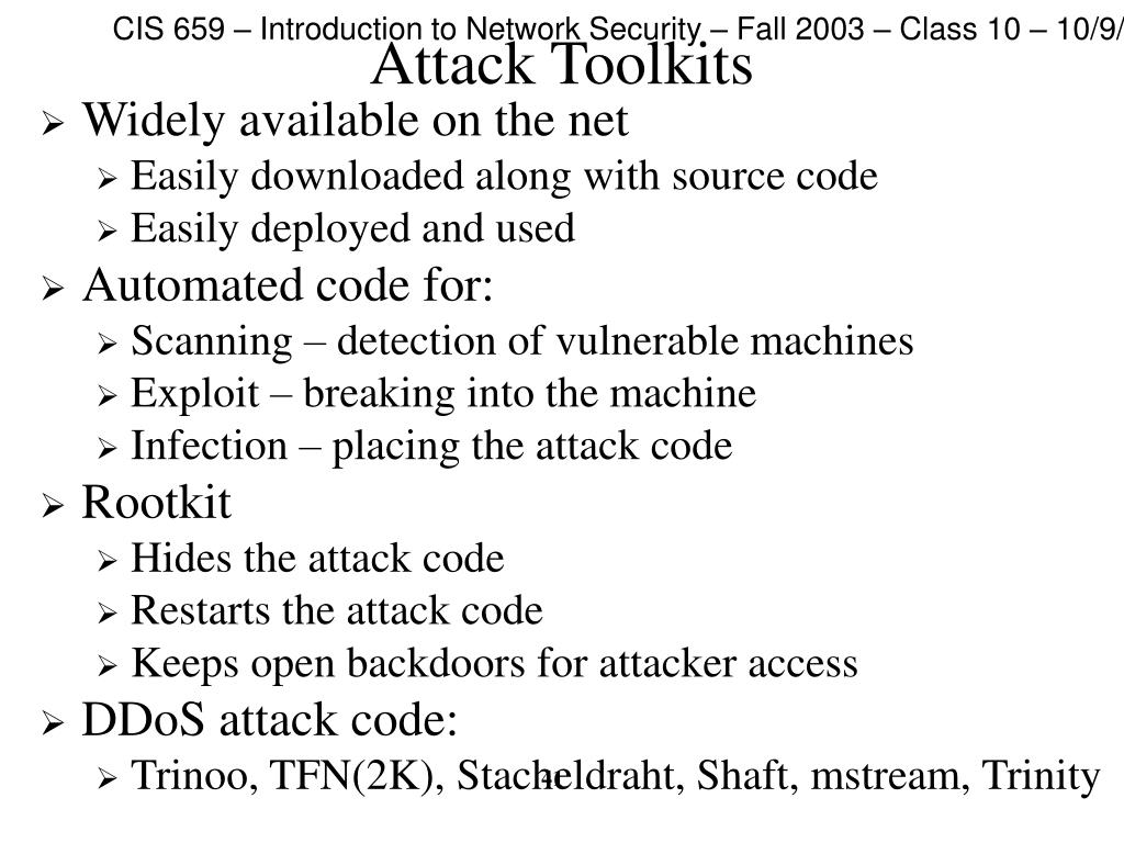 Attack Toolkits