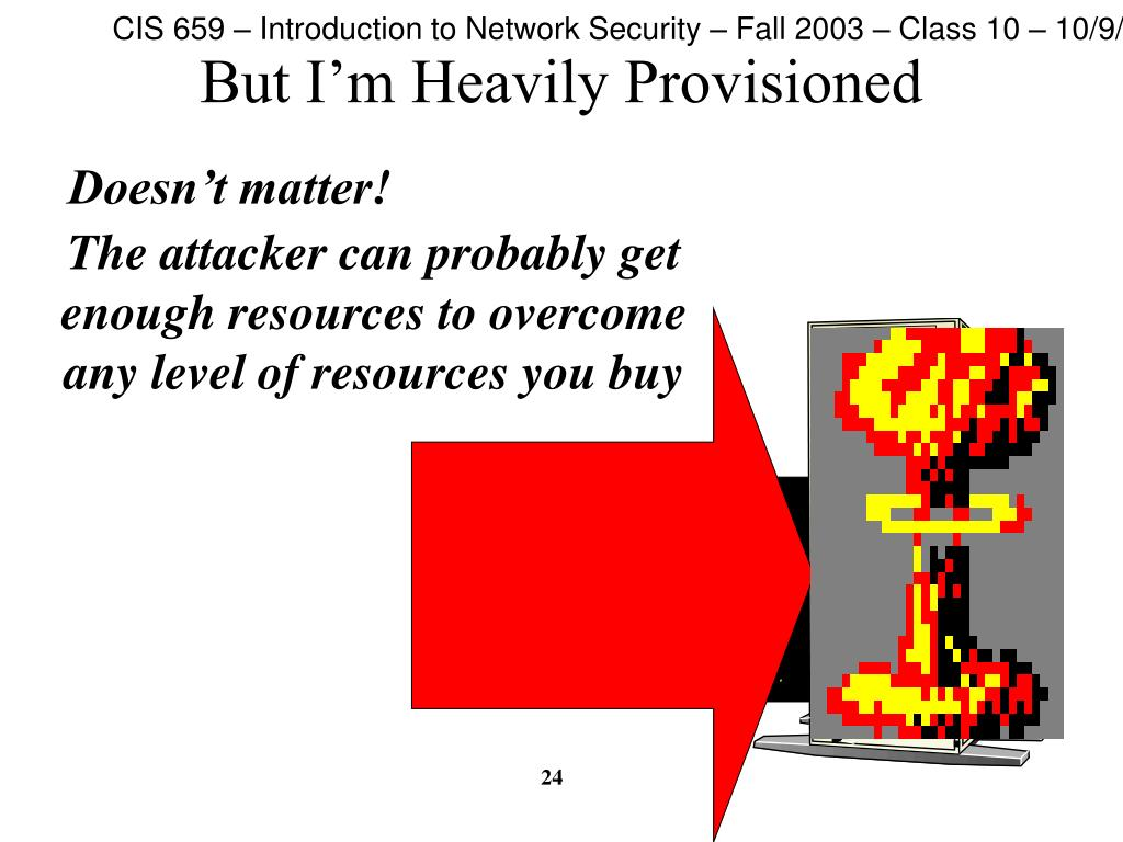 But I'm Heavily Provisioned