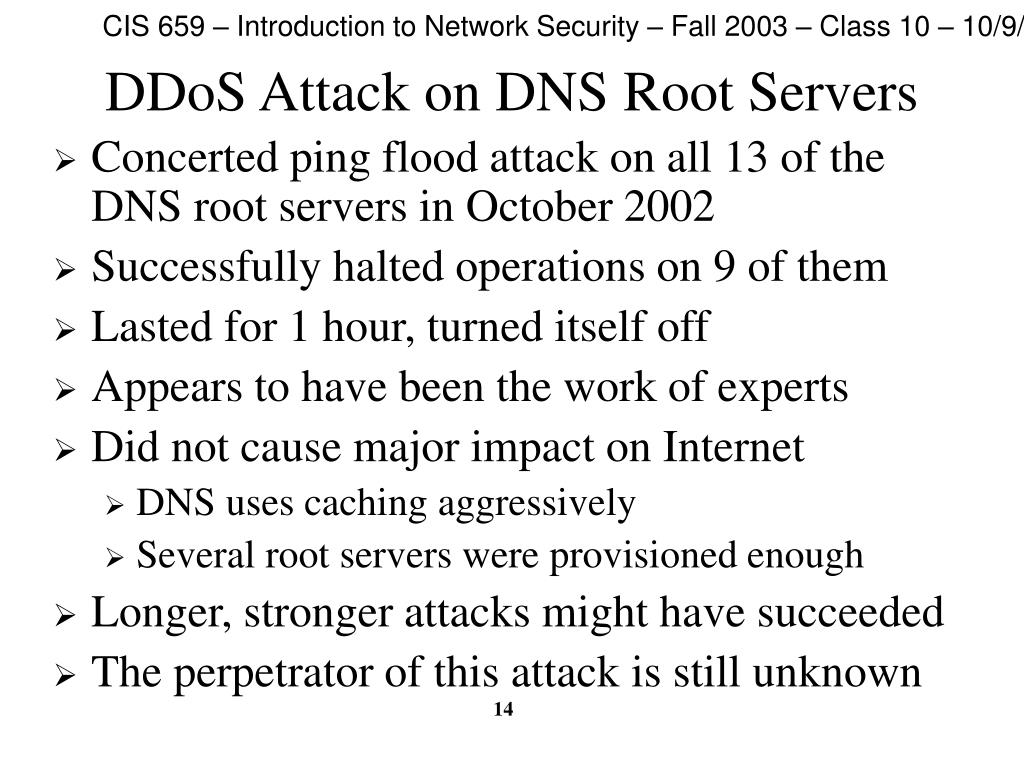 DDoS Attack on DNS Root Servers