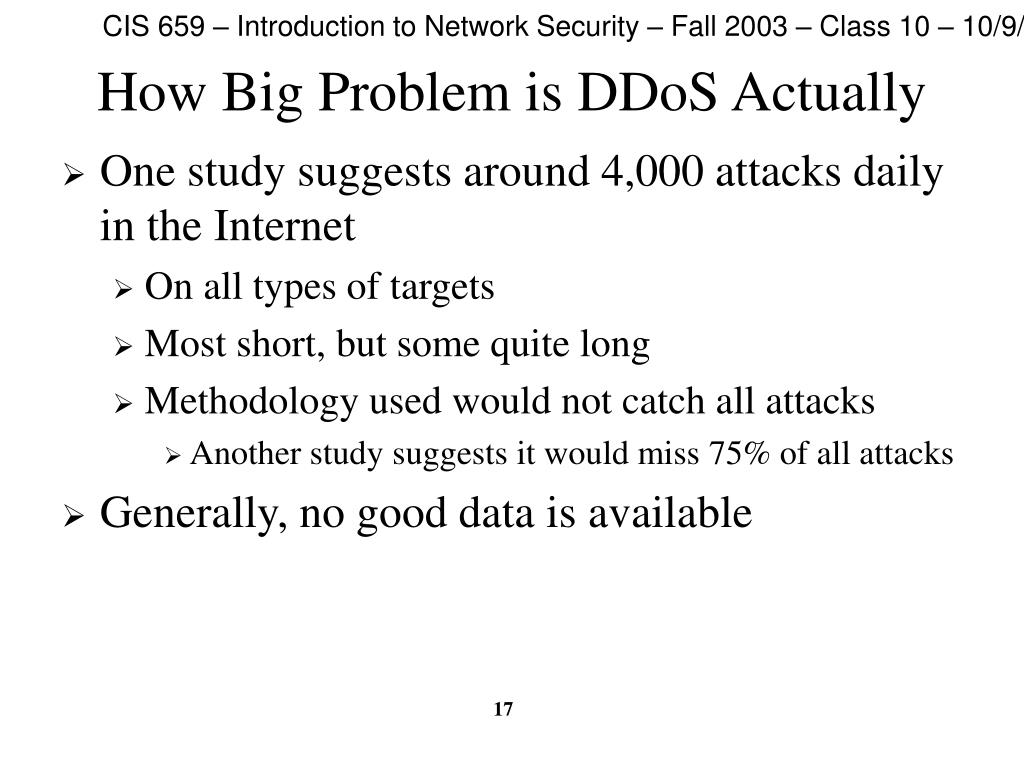How Big Problem is DDoS Actually