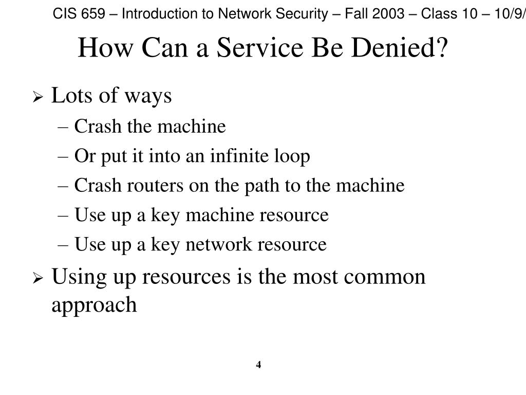 How Can a Service Be Denied?