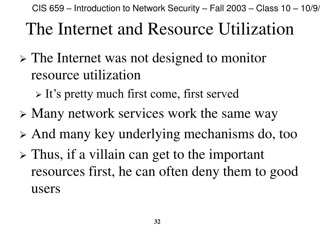 The Internet and Resource Utilization