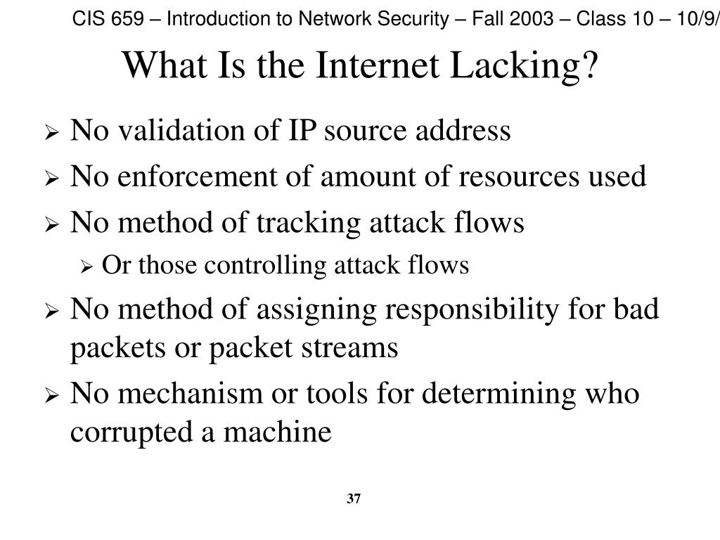 What Is the Internet Lacking?
