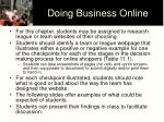 doing business online