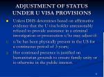 adjustment of status under u visa provisions