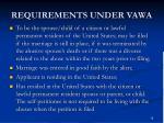 requirements under vawa