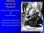 admiral hyman g rickover