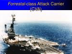 forrestal class attack carrier cva
