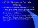 nsc 68 blueprint for cold war strategy