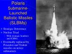 polaris submarine launched ballistic missiles slbms