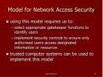 model for network access security47