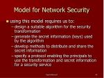 model for network security45