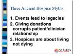 three ancient hospice myths