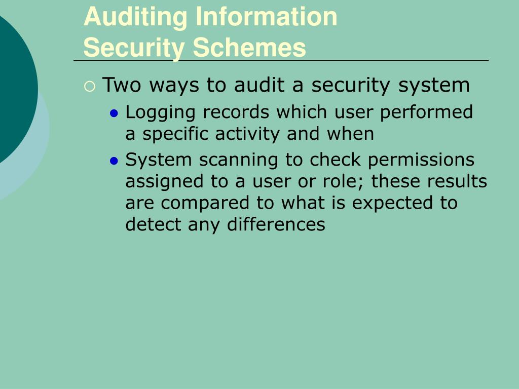 Auditing Information