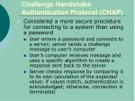 challenge handshake authentication protocol chap