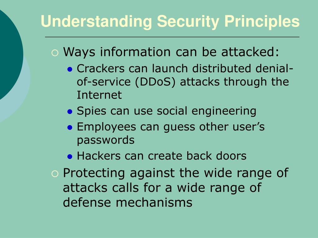 Understanding Security Principles