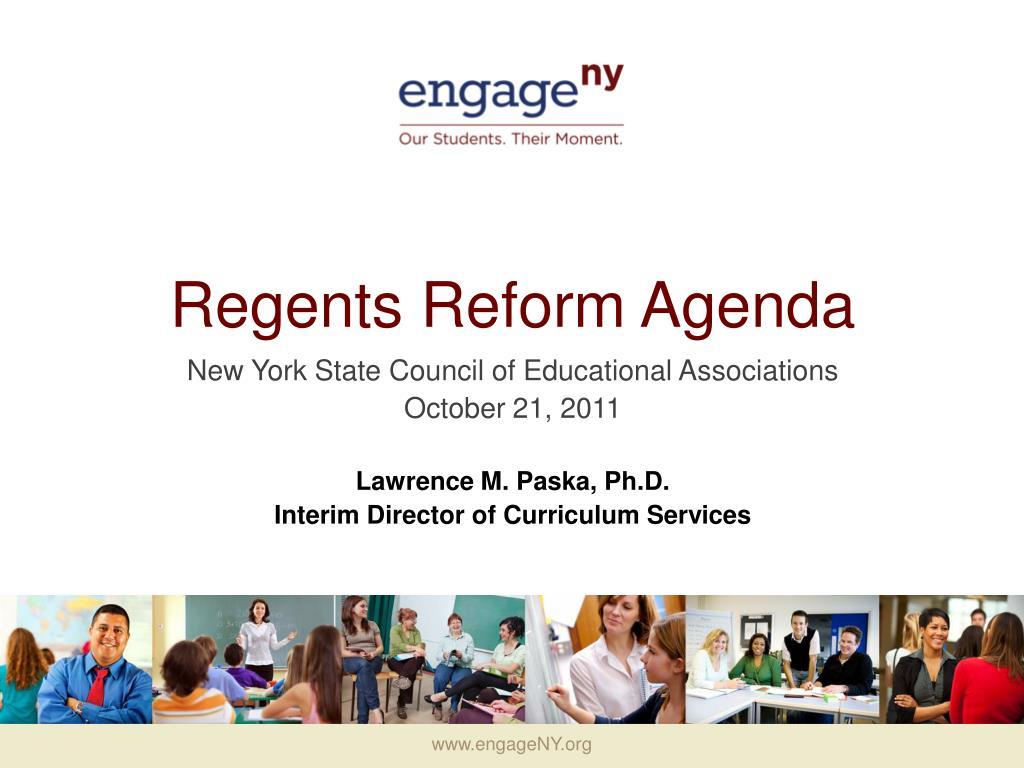 regents reform agenda l.