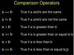 comparison operators1