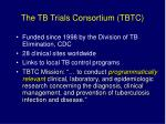 the tb trials consortium tbtc