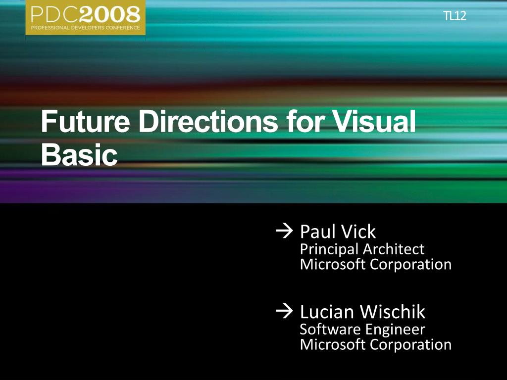 future directions for visual basic l.