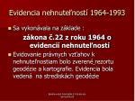 evidencia nehnute nost 1964 1993