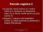 parcela registra c