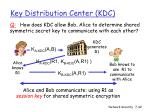 key distribution center kdc42
