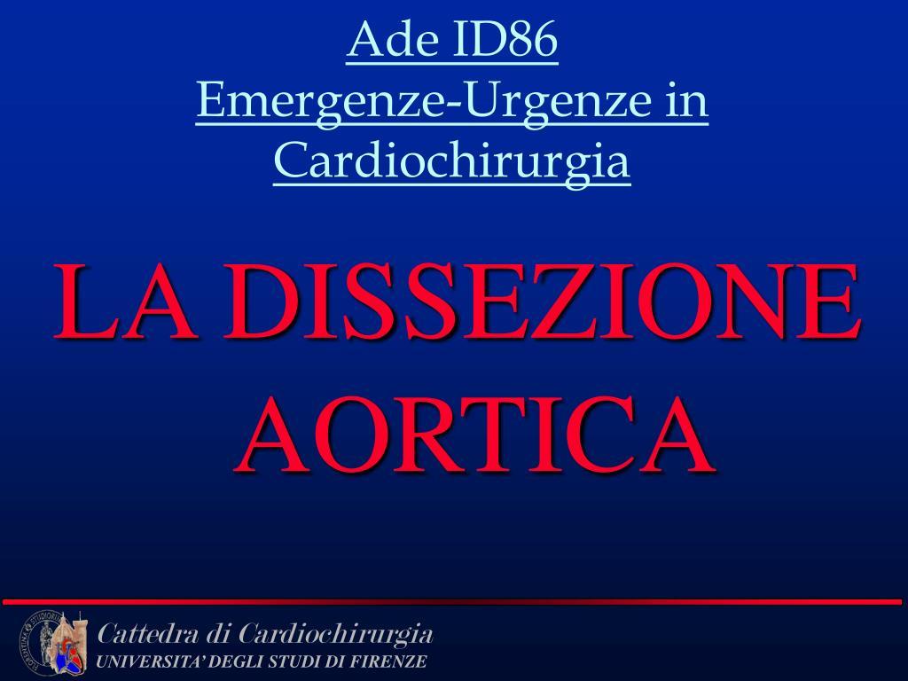 ade id86 emergenze urgenze in cardiochirurgia l.