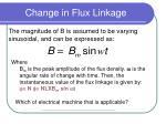 change in flux linkage