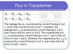 flux in transformer