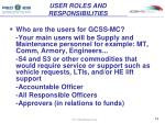 user roles and responsibilities