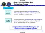 detection capability area technology focus