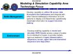 modeling simulation capability area technology focus