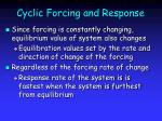 cyclic forcing and response19