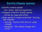 earth s climate system
