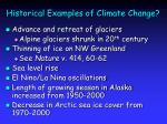 historical examples of climate change