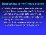 interactions in the climate system26